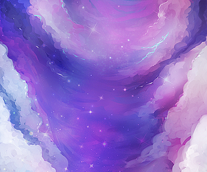 purple, stars, and sky image
