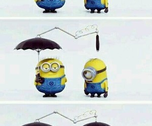 minions, friends, and umbrella image