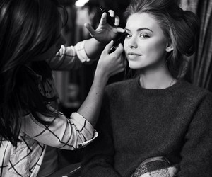 girl, make up, and beautiful image
