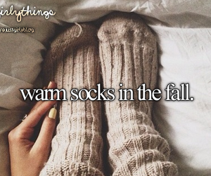 fall, socks, and warm image