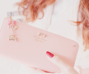 pink, cute, and wallet image