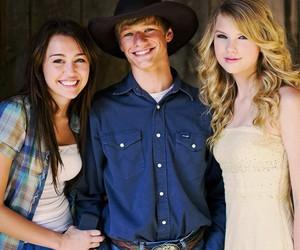 Taylor Swift, miley cyrus, and hannah montana image