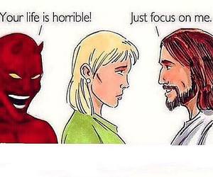 god, focus, and life image