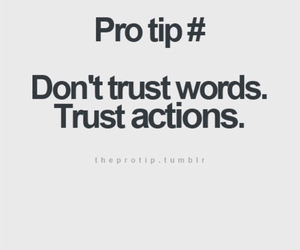words, trust, and actions image