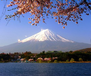 fujiyama, japan, and mountain image