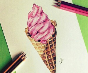 drawing, ice cream, and art image