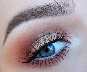 makeup, blue eyes, and eyeshadow image
