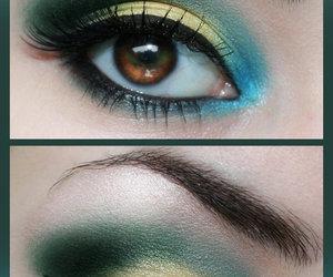 eye makeup, blue, and make up image