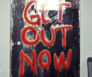 mirror, scary, and get out now image