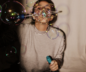 bubbles, girl, and grunge image
