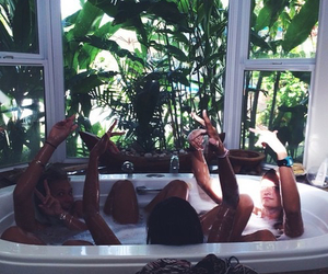 friends, girl, and bath image