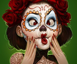 art and sugar skull image