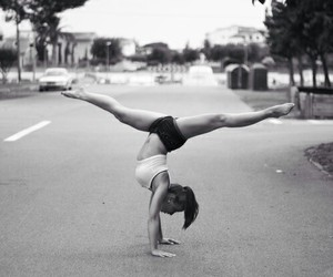 girl, handstand, and sport image