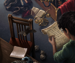 harry potter, book, and pottermore image