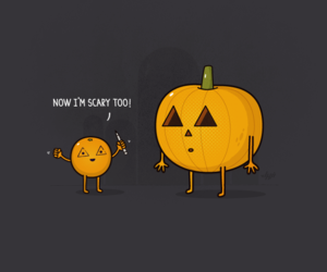 draw, pumpkin, and cute image