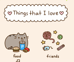 cat, pusheen, and love image