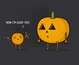 pumpkin, Halloween, and scary image