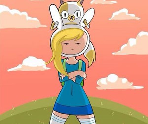 adventure time, fionna, and cake the cat image