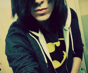emo, batman, and guy image