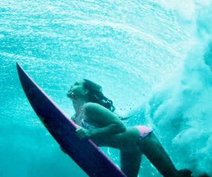girl, surf, and water image