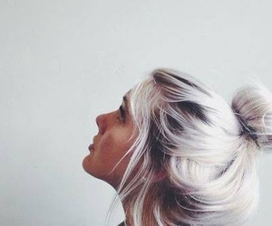 hair, girl, and white image