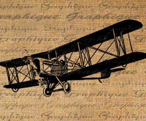 biplane, vintage, and fly image