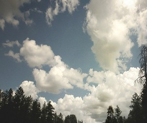 sky, clouds, and road image