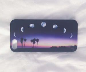 moon, iphone, and case image