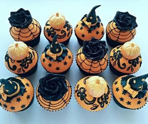 Halloween, cupcake, and food image