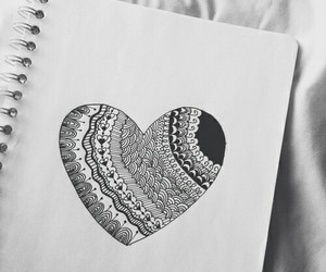 heart, drawing, and art image