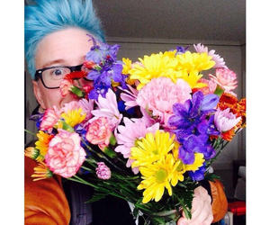 tyler oakley, flowers, and tyler image