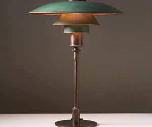 interior, vintage, and lamp image