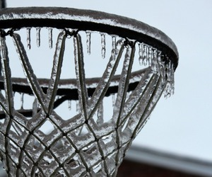 Basketball, ice, and winter image