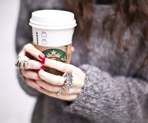 starbucks, coffee, and rings image