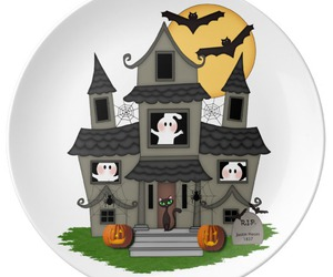 fall, Halloween, and haunted house image