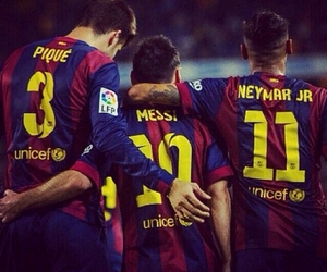 messi, pique, and Barca image