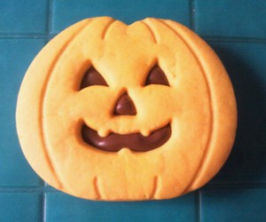 biscuit, chocolate, and pumpkin image