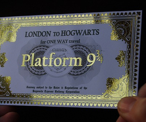 harry potter, hp, and ticket image