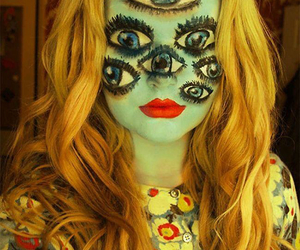 Halloween, eyes, and makeup image
