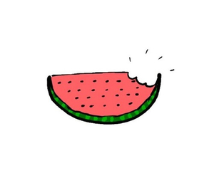 overlay, watermelon, and food image