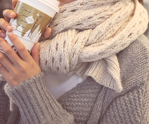 fashion, coffee, and scarf image