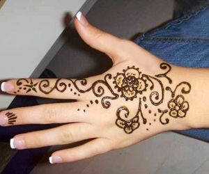henna, latest, and indian image