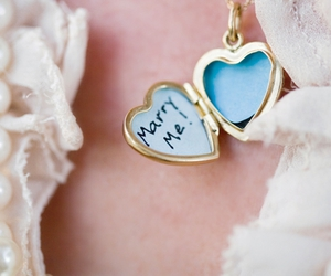 girl, locket, and marry me image