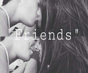 friendship, just, and kiss image