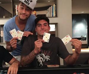 neymar, poker, and friends image