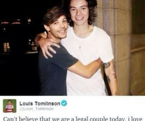 tumblr, gaylove, and larrystylinson image