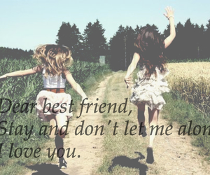 alone, best friend, and besties image