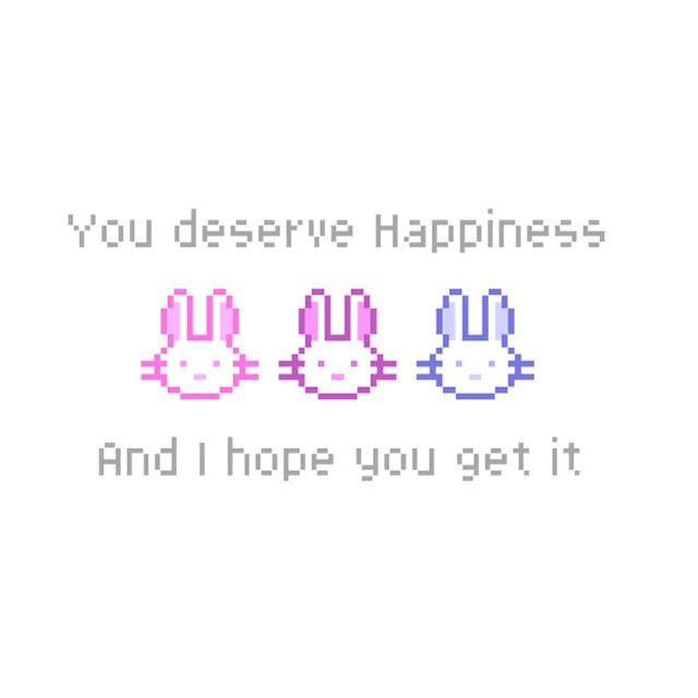 happiness, lapin, and overlay image