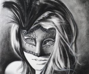 beautiful, drawing, and feathers image