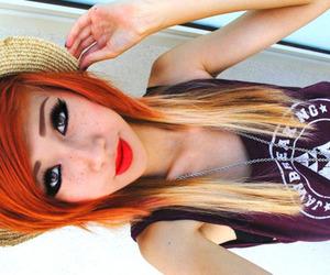 blonde, hair, and orange image